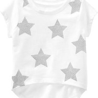 Sparkle Graphic Hi-Lo Tees for Baby