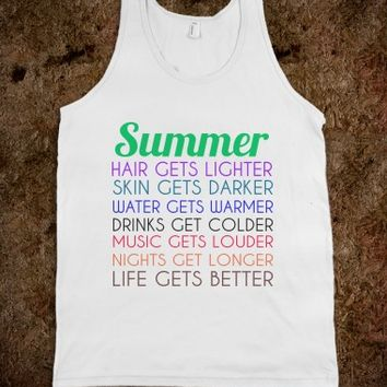 SUMMER WHT TNK - glamfoxx.com - Skreened T-shirts, Organic Shirts, Hoodies, Kids Tees, Baby One-Pieces and Tote Bags