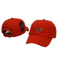 Whale Embroidered Red Strapback Golf Casquette Southern Tide Fish Dad Baseball Cap Men Summer Hat Baseball Women Dolphin Cap