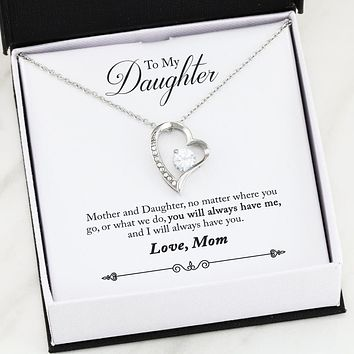 To Daughter From Mom - Forever Love Necklace