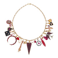 Full Ruby Charm Necklace with Gold Chain | Moda Operandi