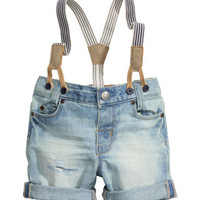 H&M Denim Shorts with Suspenders $12.99