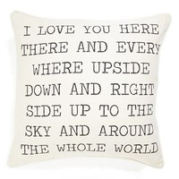 Levtex 'I Love You' Pillow - Ivory