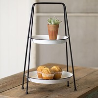 Two Tiered Round Tray