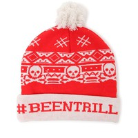 Been Trill Santa Pom Beanie - Mens Hats - Red - One