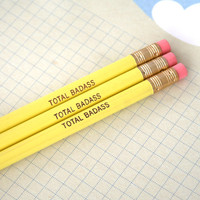 total badass three round yellow pencils self by thecarboncrusader