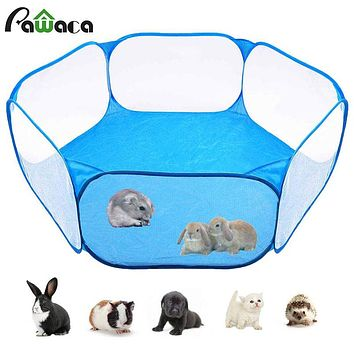 Pet Playpen Portable Pop Open Indoor/Outdoor Small Animal Cage Game Playground Fence for Hamster Chinchillas And Guinea Pigs FREE SHIPPING