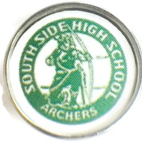 South Side Archers HS Logo 18MM - 20MM Fashion Snap Jewelry Snap Charm