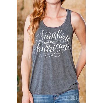 Sunshine Mixed with a Little Hurricane | Flowy Racerback Tank