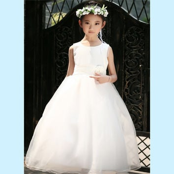 Retail Flower Girl Dresses For Children Kids Girl Ball Gown First Communion Girls Pageant Dresses Elegant Evening Dress LP-53