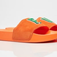 PUMA X RIHANNA Fenty LEADCAT FU suede SLIDES Orange 367087-03 Women sz 4-10