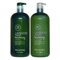 Paul Mitchell Tea Tree Lavender Mint Moisturizing Shampoo 1 Liter/ 33.8oz and Conditioner 1 Liter/ 33.8oz