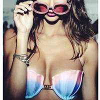HOT CUTE COLORFUL SHELL TWO PIECE BIKINIS