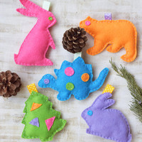 Baby toy Felt stuffed animals Nursery decor Ornaments Baby shower Gift Mobile Educational Sensory Toy Crib Toddler Rattle newborn gift toys
