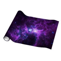 Purple Galaxy Wrapping Paper