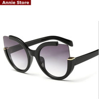 Vintage 2016 new cat eye sunglasses women new 2016 luxury woman sunglasses designer brand cateye black discount UV400 gafas sol