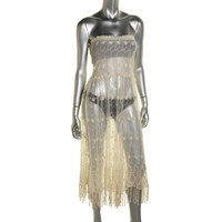 Free People Womens Mesh Embroidered Full Slip