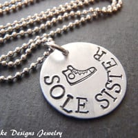 sole sister necklace running jewelry