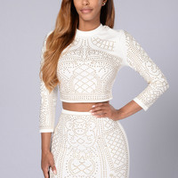 Own The Night Skirt - White