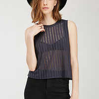 Sheer-Striped Top