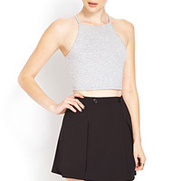 FOREVER 21 Buttoned Mini Skirt Black Large