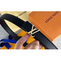 LV new retro wild smooth buckle belt