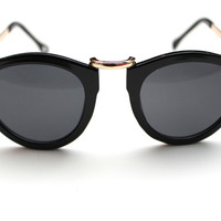 Black with Gold Arrows Sunglasses
