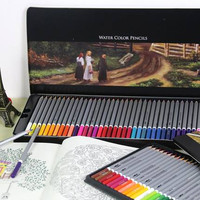Free shipping deli 24 36 48 72 colors pencil water color pencils painting colorful watercolor pen student supplies paint pencil
