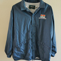 City of St Pete Windbreaker Button Up Jacket 90s Vintage Oversized XL