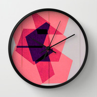 Overlapping Hours Wall Clock by Bunhugger Design