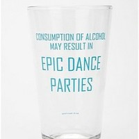 UrbanOutfitters.com > Epic Dance Party Pint Glass