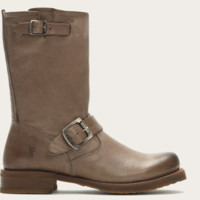 Frye Veronica Grey Short Leather Boots