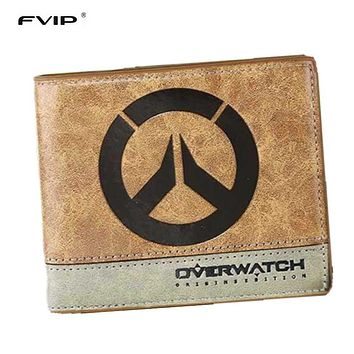 FVIP Japanese Anime Poke/ Death Note/ Attack on Titan/ One Piece/ Overwatch Wallet With Coin Pocket Zipper Poucht Billetera