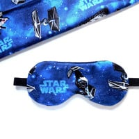 Star Wars Sleep Mask, Eye Shade, Adult or Child Size, Man Woman Kids Teen, Movie Gift, Cotton Satin or Fleece, Travel Night Nap Face Cover