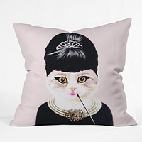 Coco de Paris Hepburn Cat Throw Pillow