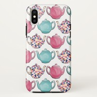 Cute colourful teapot design seamless pattern Case-Mate iPhone case | Zazzle.co.uk