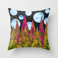 Night Throw Pillow by SensualPatterns