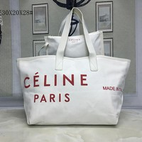 Celine Women Fashion Leather Satchel Tote Shoulder Bag Handbag Set Two-Piece