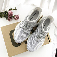 Adidas Yeezy 350 V2 Boots Static Popular Women Men Comfortable Sport Running Shoes Sneakers White