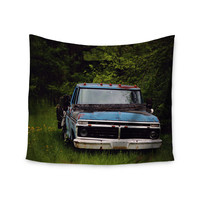 "Angie Turner ""Old Ford Truck"" Blue Digital Wall Tapestry"