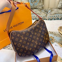 Louis Vuitton LV pea bag saddle bag crossbody bag monogram coffee