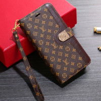 LV LOUIS VUITTON Leather Wallet Stand Case for iPhone X XR XS MAX 6 6s 6plus 6s-plus 7 7plus 8 8plus X
