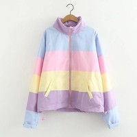 Pastel Rainbow Windbreaker