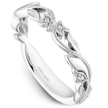 Noam Carver Nature Inspired Scrollwork Leaf Stackable Band