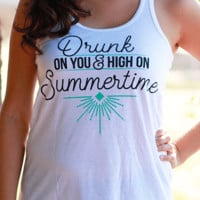 Drunk On You | Flowy Racerback Tank Top