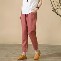 New Spring Casual Loose Pants Summer style Legging solid Trousers For women