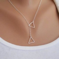 Shiny Jewelry New Arrival Stylish Gift Accessory Simple Design Geometric Chain Necklace [7298061831]