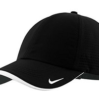 Nike Golf Dri-FIT Swoosh Perforated Cap hat 429467 hat Black OSFA