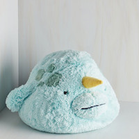 Nautical Plush One Pillow in Narwhal by ModCloth