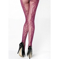Flower Blossoms Fishnet Pantyhose
